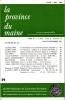 LA PROVINCE DU MAINE TOME 83 - 4e Série : Tome X - Fascicule 39. Collectif