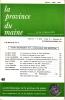 LA PROVINCE DU MAINE TOME 83 - 4e Série : Tome X - Fascicule 40. Collectif