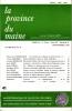 LA PROVINCE DU MAINE TOME 84 - 4e Série : Tome XI - Fascicule 41. Collectif