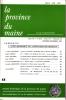 LA PROVINCE DU MAINE TOME 84 - 4e Série : Tome XI - Fascicule 44. Collectif