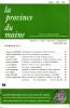 LA PROVINCE DU MAINE TOME 85 - 4e Série : Tome XII - Fascicule 46. Collectif