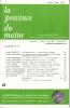LA PROVINCE DU MAINE TOME 85 - 4e Série : Tome XII - Fascicule 47. Collectif