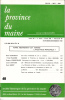 LA PROVINCE DU MAINE TOME 85 - 4e Série : Tome XII - Fascicule 48. Collectif
