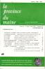 LA PROVINCE DU MAINE TOME 86 - 4e Série : Tome XIII - Fascicule 49. Collectif