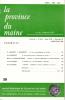 LA PROVINCE DU MAINE TOME 86 - 4e Série : Tome XIII - Fascicule 50. Collectif