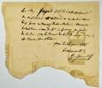 [Journées de Juin 1848]. Billet manuscrit signé et daté Paris le 26 juin 1848..