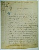 [Affaire Fenayrou. Lettre autographe signée de Marin Fenayrou]. Fenayrou N°14139. Ile Nou, le 6 Décembre 1884. .