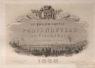 Le Ballon captif. Paris nouveau en Panoramas dessiné et gravé par H. Guesnu. 24 vues nouvelles de Paris à vol d'oiseau.. GUESNU (Marie-Hilaire).