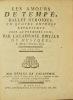 Les Amours de Tempé, ballet héroïque, en quatre entrées. Représenté pour la première fois, par l'Académie royale de musique, le mardy 7 novembre ...