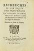[Château-Landon. 1662]. Recherches de l'antiquité de la ville et bailliage de Château-Landon, servant de défenses contre les entreprises des officiers ...
