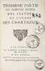 [Impression de la Grande Chartreuse]. Troisième partie du nouveau recueil des statuts de l'Ordre des Chartreux..