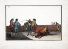 Coleccion de las principales suertes de una corrida de toros. Grabada por Luis Fernandez Noseret.. NOSERET (Luis Fernandez).