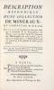 Description Méthodique d'une Collection de Minéraux, du Cabinet de M.D.R.D.L. Ouvrage où l'on donne de nouvelles idées sur la formation & la ...