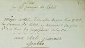 [Plan sur les finances de l'Etat, présenté à M. Necker directeur général des finances, par M. le chevalier D.P.L.C]. Moyen certain d'accroître de plus ...
