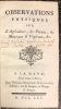 Observations physiques sur l'Agriculture, les Plantes, les Minéraux et Végétaux, etc.. TIPHAIGNE DE LA ROCHE (Charles-François).