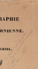 Bibliographie saint-simonienne.. FOURNEL (Henri).