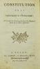 [Constitution de l'an III]. Constitution de la République Française à l'usage des Écoles primaires du Département de la Seine inférieure..