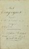 [Campagne d'Allemagne. 1798-1800. Manuscrit]. Mes Campagnes depuis le 1er Vendemiaire an 7 (22 septembre 1798) jusques et compris le - Par Alphonse ...