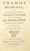 L'Homme en société, ou Nouvelles vues politiques et économiques pour porter la population au plus haut degré en France.. GOYON DE LA PLOMBANIE (Henri ...