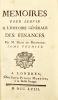 Mémoires pour servir a l'Histoire générale des Finances. Par M. Déon de Beaumont.. ÉON (Charles de Beaumont d').