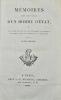 Mémoires tirés des papiers d'un homme d'Etat, sur les causes secrètes qui ont déterminé la politique des cabinets dans la guerre de la révolution.. ...
