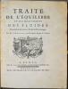 Traité de l'équilibre et du mouvement des fluides, pour servir de suite au Traité de dynamique.. ALEMBERT (Jean Le Rond d').