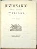 Dizionario della lingua italiana.. COSTA (Paolo) & CARDINALI (Francesco).