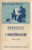 L'immatérialisme: Textes choisis, . BERKELEY George