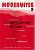 Modernités n° 5: Ceux que modernité veut dire (1),. Collectif (revue), TADIE Yves (textes réunis par),