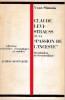 """Claude Lévi-Strauss ou """"La passion de l'inceste"""", . SIMONIS Yvan"""