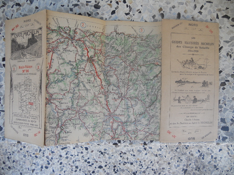 Carte Michelin - France en 48 feuilles au 200.000e - n° 36 - Mende Valence. Michelin