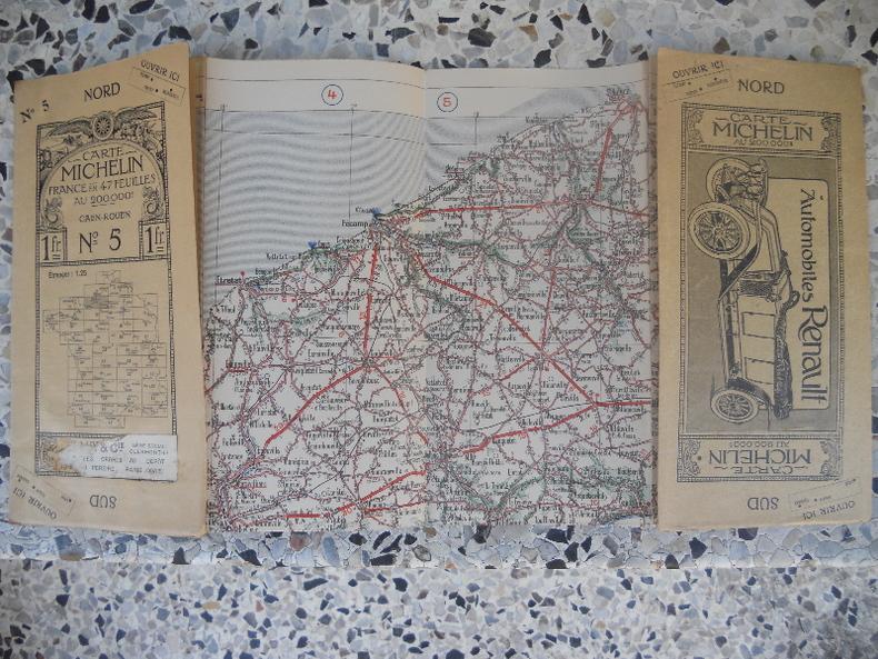 Carte Michelin - France en 47 feuilles au 200.000e - n° 5 - Caen Rouen. Michelin