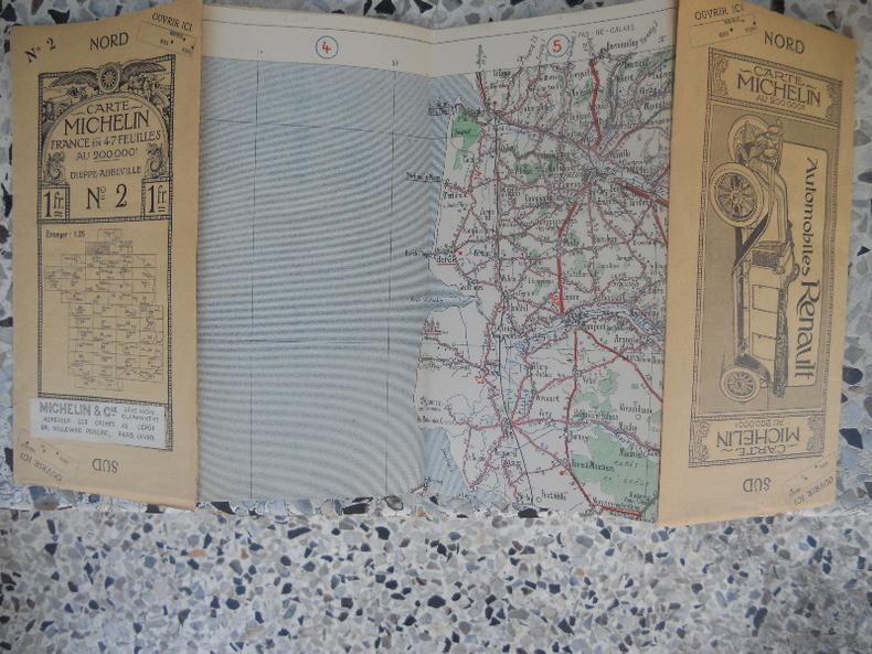 Carte Michelin - France en 47 feuilles au 200.000e - n°2 - Dieppe Abbeville . Michelin