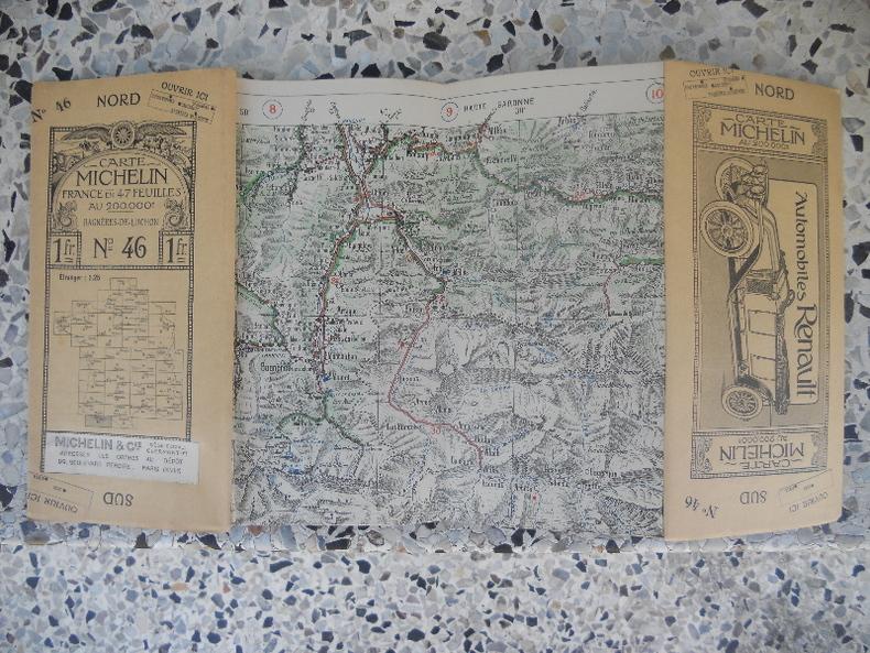 Carte Michelin - France en 47 feuilles au 200.000e - n° 46 - Bagneres-de-Luchon. Michelin