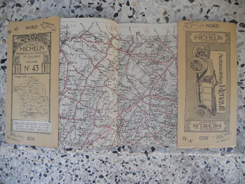 Carte Michelin - France en 47 feuilles au 200.000e - n° 43 - Toulouse. Michelin