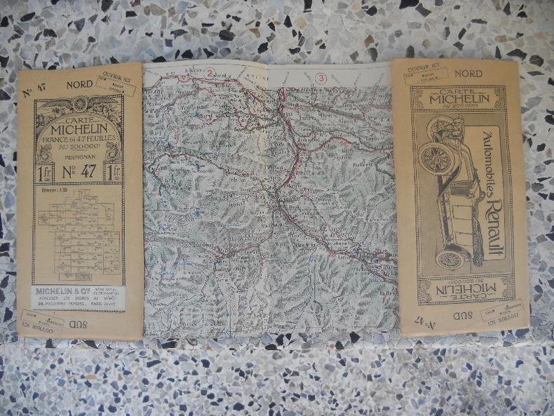 Carte Michelin - France en 47 feuilles au 200.000e - n° 47 - Perpignan. Michelin