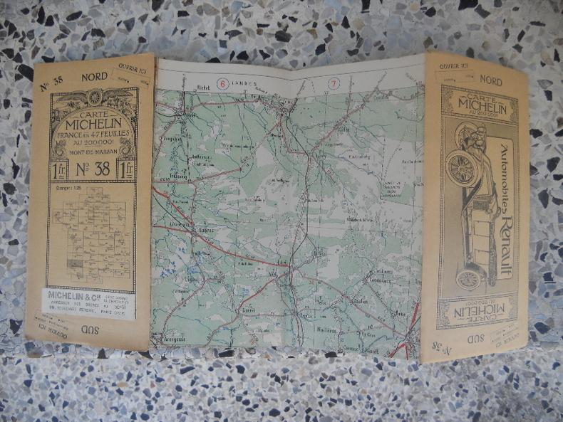 Carte Michelin - France en 47 feuilles au 200.000e - n° 38 - Mont-de-Marsan. Michelin