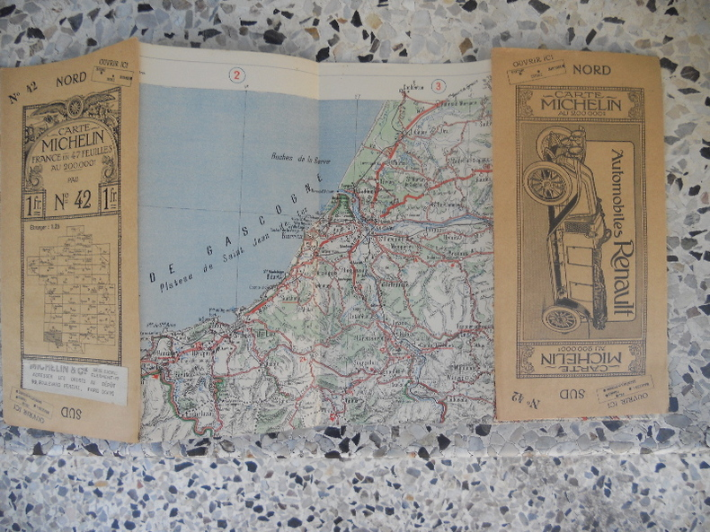 Carte Michelin - France en 47 feuilles au 200.000e - n° 42 - Pau. Michelin