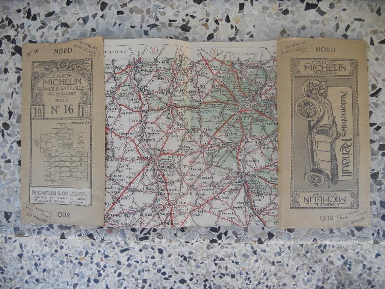 Carte Michelin - France en 47 feuilles au 200.000e - n° 16 - Troyes. Michelin