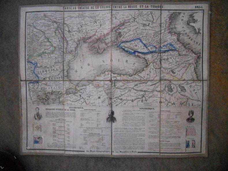Carte du theatre de la guerre entre la Russie et la Turquie 1854. Collectif