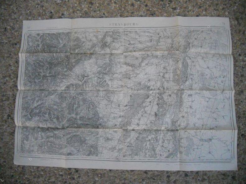 Carte d'etat-major - 80.000 eme - Strasbourg. Anonyme