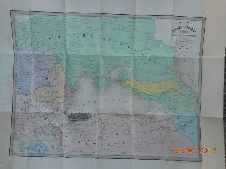 Guerre d'orient - Carte dressee d'apres les documents les plus authentiques - Mer Noire theatre de la guerre . Anonyme
