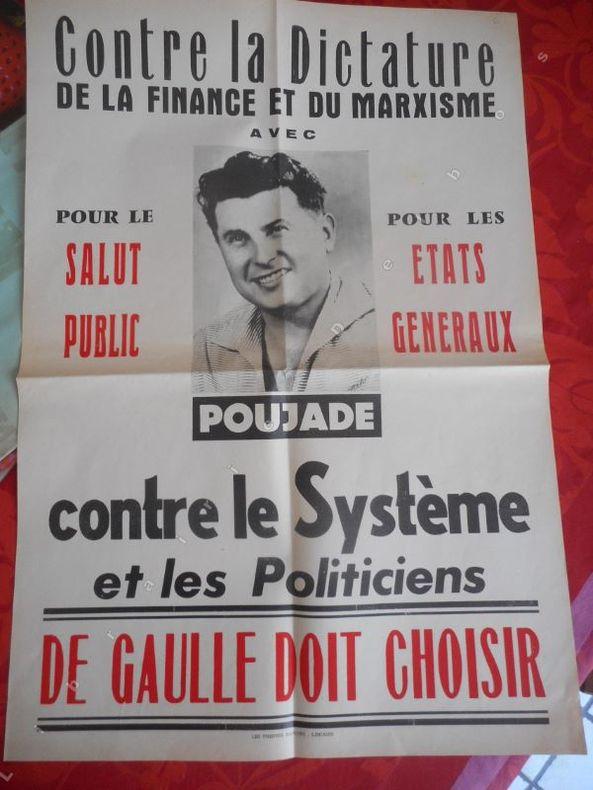 Contre la dictature de la finance et du marxisme . ( POUJADE Pierre )