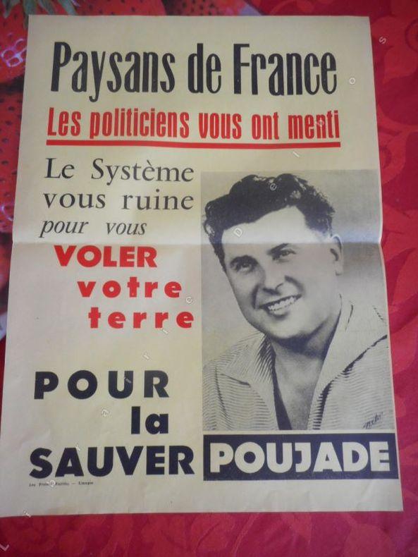 Paysans de France : Les politiciens vous ont menti .... ( POUJADE Pierre )