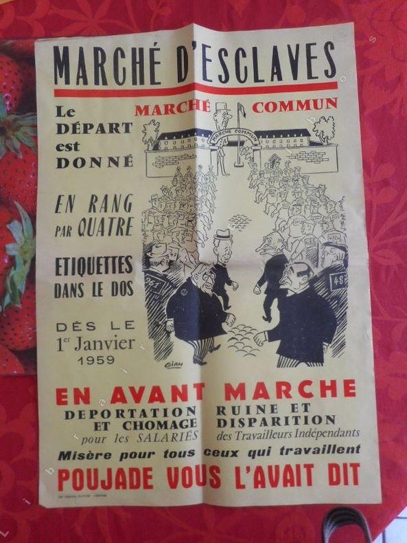Marche commun, marche d'esclaves .... ( POUJADE Pierre )