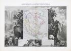 AMERIQUE SEPTENTRIONALE ,Carte : DRESSEE EN 1845 par COMBETTE  . LEVASSEUR V.