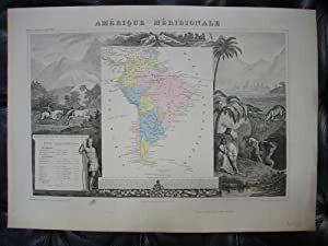 AMERIQUE MERIDIONALE ,Carte : . LEVASSEUR V.