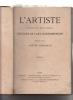 L'ARTISTE revue du XIXe siecle : octobre, novembre, decembre 1867, XXXVII annee?, . Houssaye, Arsene, Zola Emile,Theophile Gautier,Charles ...