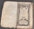 ALMANACH DES MUSES 1785 Ou Choix des Poesies Fugitives de 1784,exemplaire incomplet. ALMANACH DES MUSES