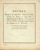 Décret du 13 janvier 1806 relatif à la composition des rations en usage dans le département de la marine.. Décret Impérial